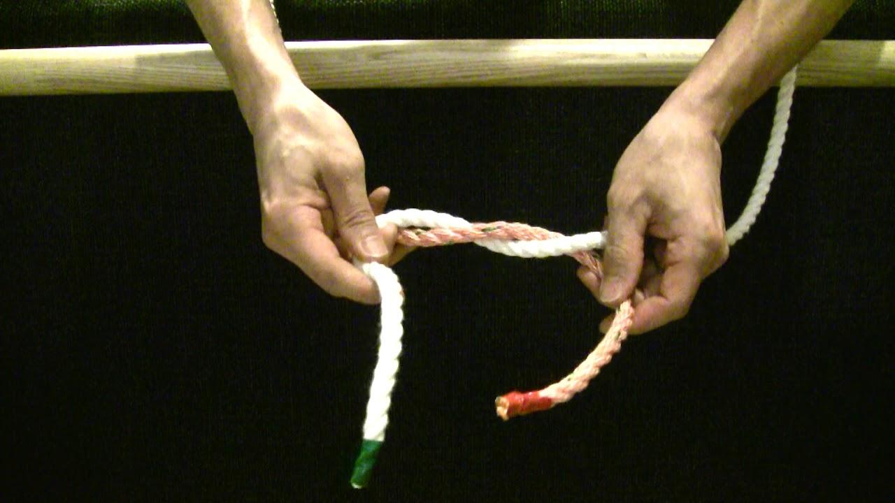 【生活の知恵】【ロープの結び方】【003】本結び 災害時に