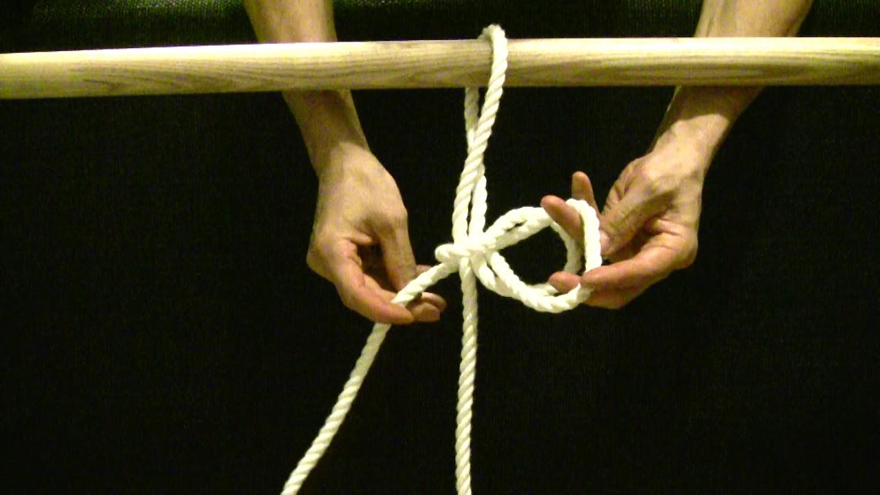 【生活の知恵】【ロープの結び方】【012】新馬つなぎ 災害時に